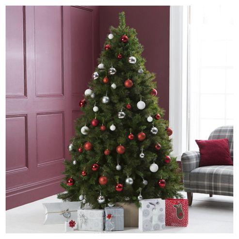 Festive Virginia Fir Christmas Tree, 6.5ft