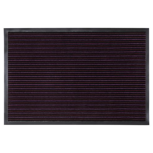 Tesco Large Strip Barrier Door Mats Twin Purple 90x60cm