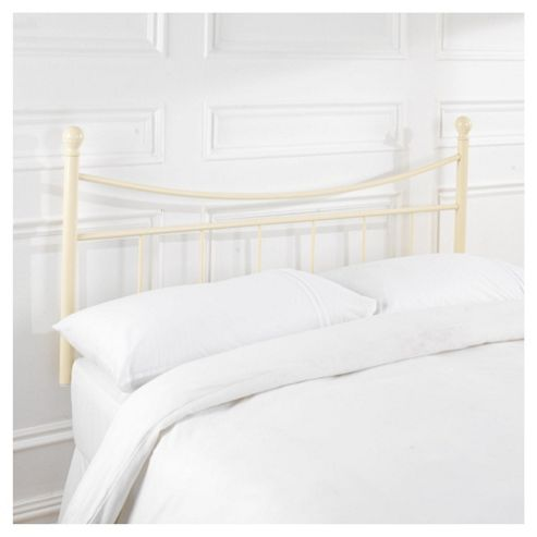 Seetall Lilly Single Metal Headboard, Cream