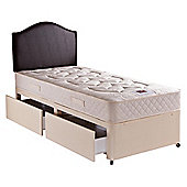 Airsprung Danbury Luxury Single 2 Drawer Divan Bed