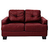 Utah Small Leather Sofa, Red