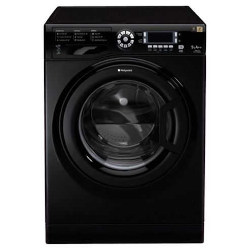 Hotpoint Ultima WMUD942K Washing Machine, 9Kg Wash Load, 1400 RPM Spin, A++ Energy Rating, Black