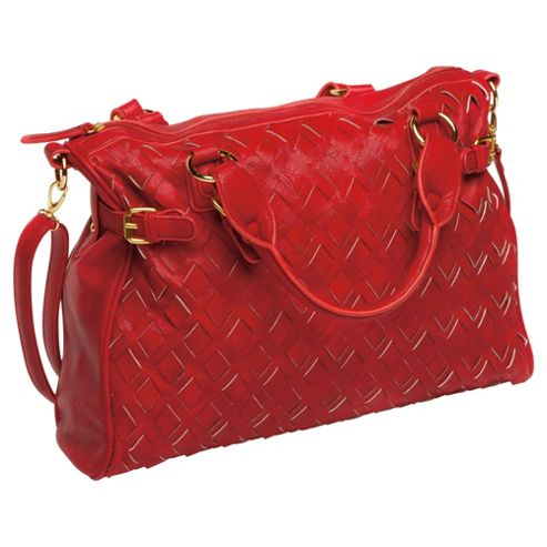 Kids Line Woven City Changing Bag, Red