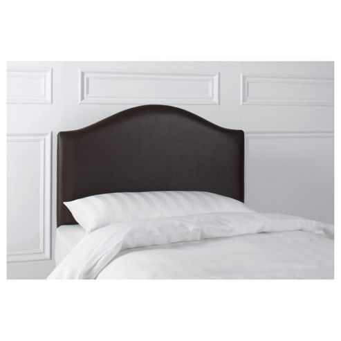 Laredo Single Faux Leather Headboard, Black