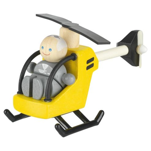 Plan Toys Helicopter & Pilot Wooden Toy