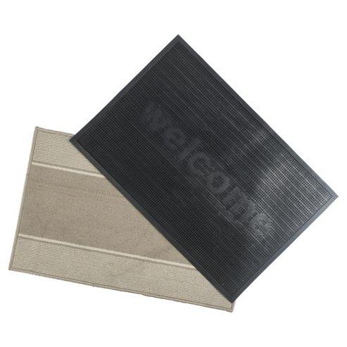 Indoor and Outdoor Mat, 2 Pack, 90 x 60cm