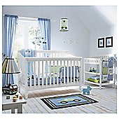 Kids Line La Jobi Geneva 4 in 1 Cot Bed, White