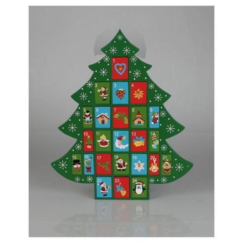 Christmas tree Advent Calendar, green