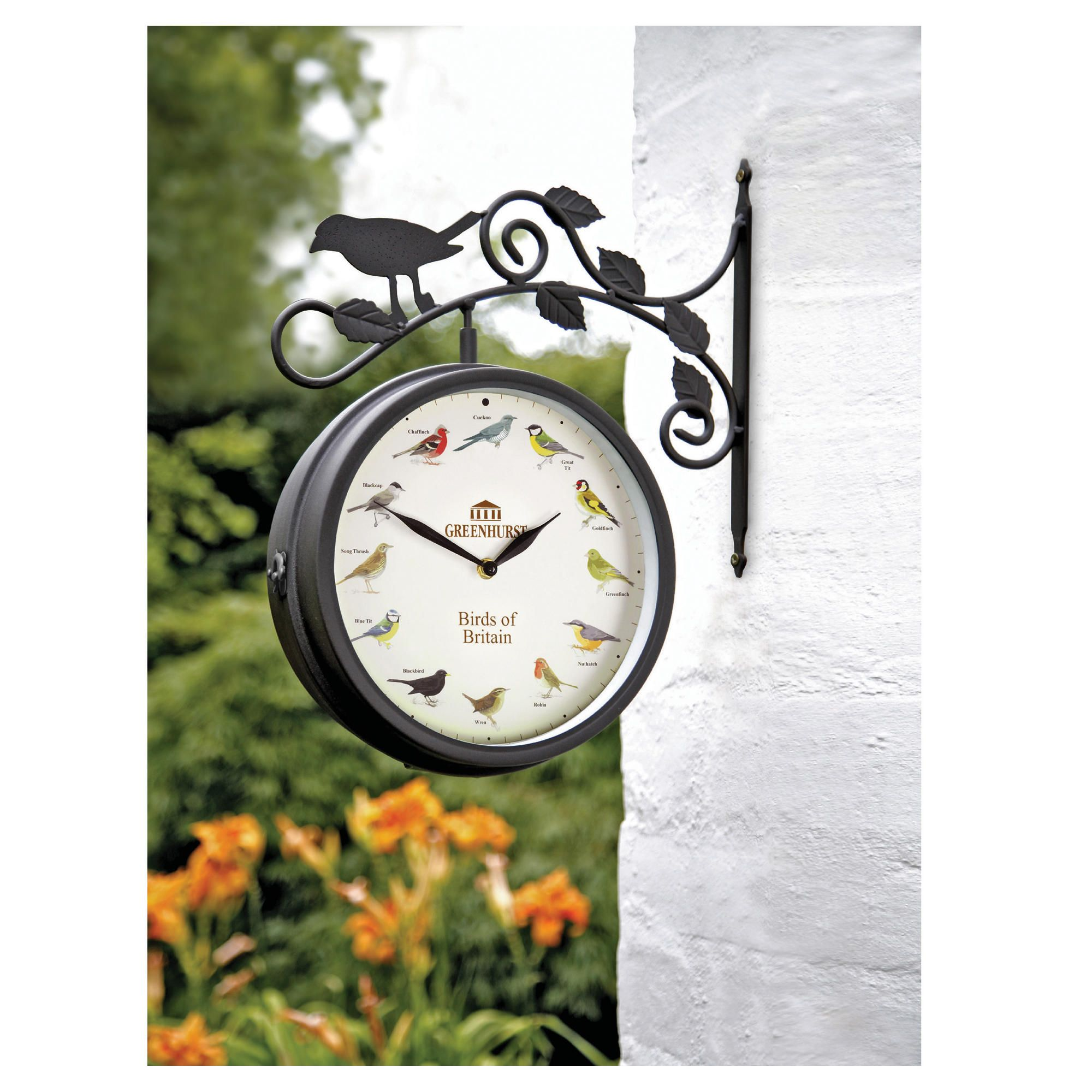 Gamblemere Birds of Britain Garden Clock/Thermometer at Tesco Direct