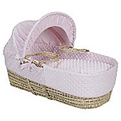 Clair de lune Dimple Moses Basket, Pink