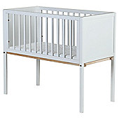 Saplings Ellie Stationary Crib with Mattress, White