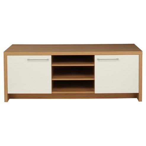 Manhattan Tv Unit Oak Effect / White