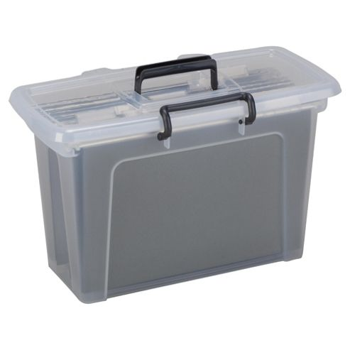 Suspension File Plastic Storage Box - Clear