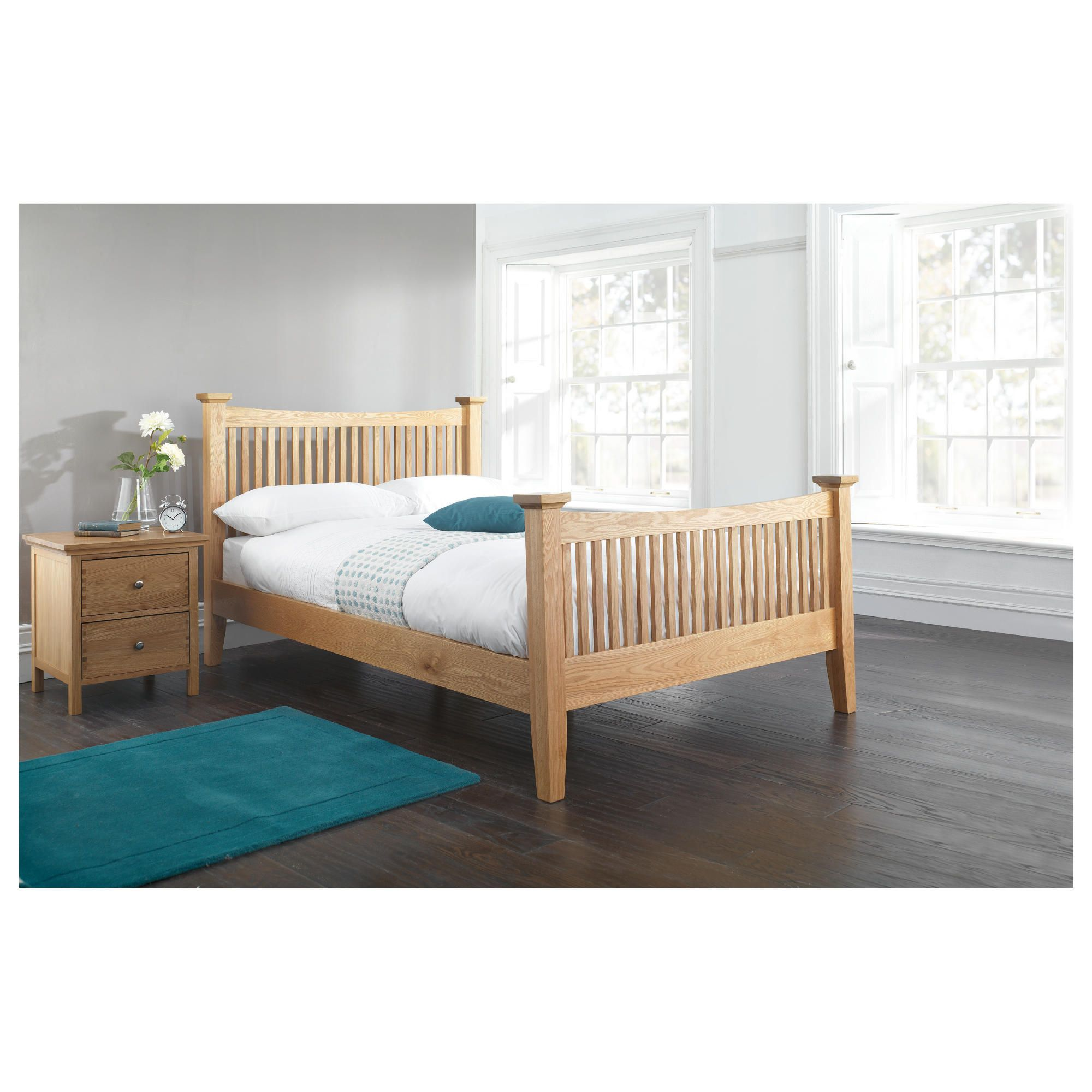 Hampstead King Bed Frame, Oak at Tesco Direct