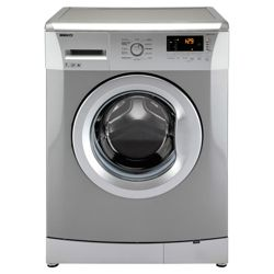 Beko WMB71231S Washing Machine, 7kg Wash Load, 1200 RPM Spin, A++ Energy Rating. Silver