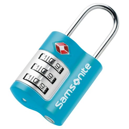 Samsonite TSA Combination Lock, Blue