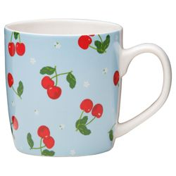 Tesco Cherry Set of 8 Mugs.