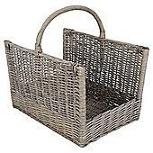 Tesco Rectangular Log Basket Grey Wash