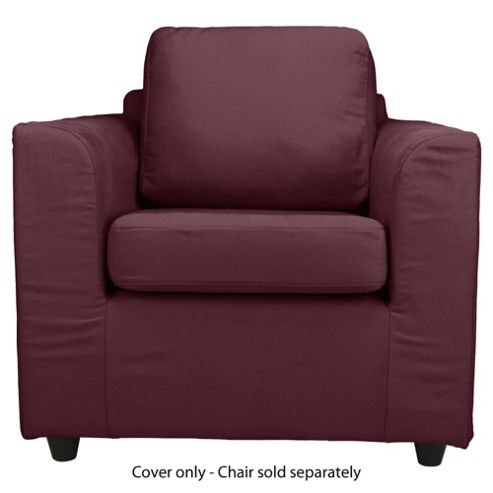 Ashley Loose Cover For Armchair, Aubergine