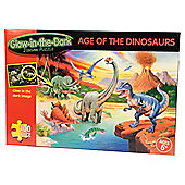 Glow In Dark Age Of The Dinosaurs 100 piece puzzle