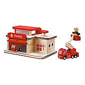 Plan Toys Fire Station Wooden Toy