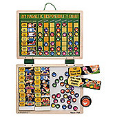 Melissa & Doug Wooden Magnetic Responsibilty Reward Chart