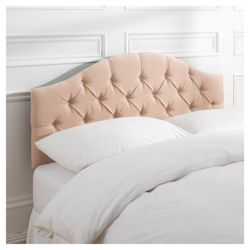 Sandon King Velour Headboard, Champagne