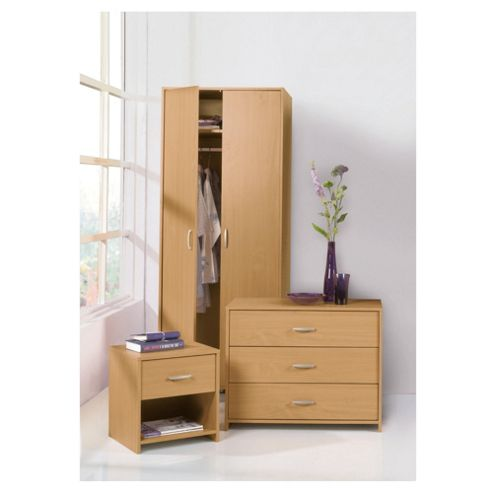 Ashford Double Wardrobe Set, Beech-Effect