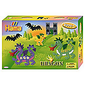 Hama Beads Gift Box Dragon