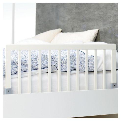 Babydan Wooden Bedrail, White