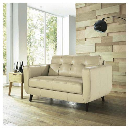 Lorenzo Leather Small Sofa Taupe