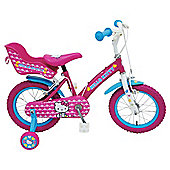 "Hello Kitty 14"" Kids' Bike - Girls with stabilisers"