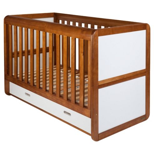 East Coast Rio Cot Bed, Cocoa and White
