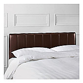 Seetall Haddon Headboard Chocolate Faux Leather Single