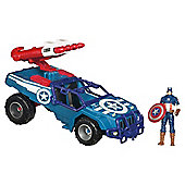Marvel Avengers Captain America Battle Vehicle with Action Figure