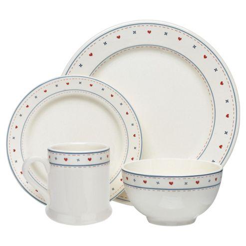 Tesco Haven 16 Piece, 4 Person Dinner Set - White