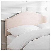 Seetall Laredo Headboard Cream Faux Suede Double