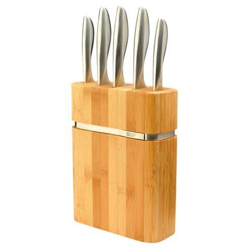 Richardson Sheffield Forme 5 Piece Bamboo Knife Block Set