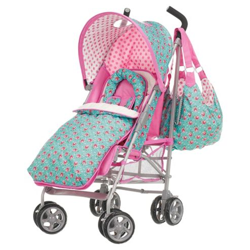 Obaby Atlas V2 Stroller with Footmuff & Changing Bag, Cottage Rose
