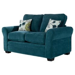 Amelie Small Fabric Standard Back Sofa, Teal