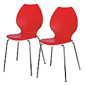 Candy Pair Of Chairs White / Red