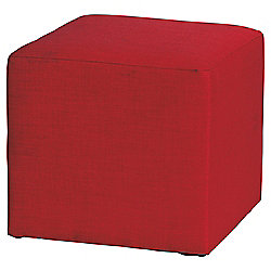 Stanza Fabric Cube / Foot stool Red