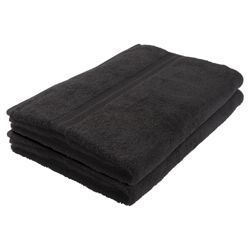 Tesco Bath Towel Pair Black
