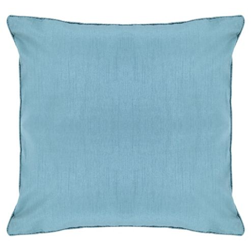 Tesco Faux Silk Cushion, Duck Egg
