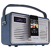 ViewQuest Retro DAB Radio and iPhone/iPod Dock - Blue