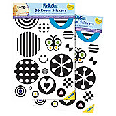 FunToSee Black and White Nursery Stickers