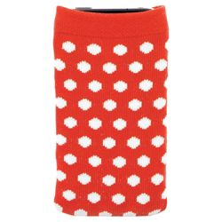 Orbyx Smartphone Polka Dot Sock  Red