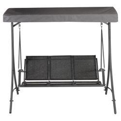 Sorrento Metal/Textilene 3 Seat Swing - Charcoal