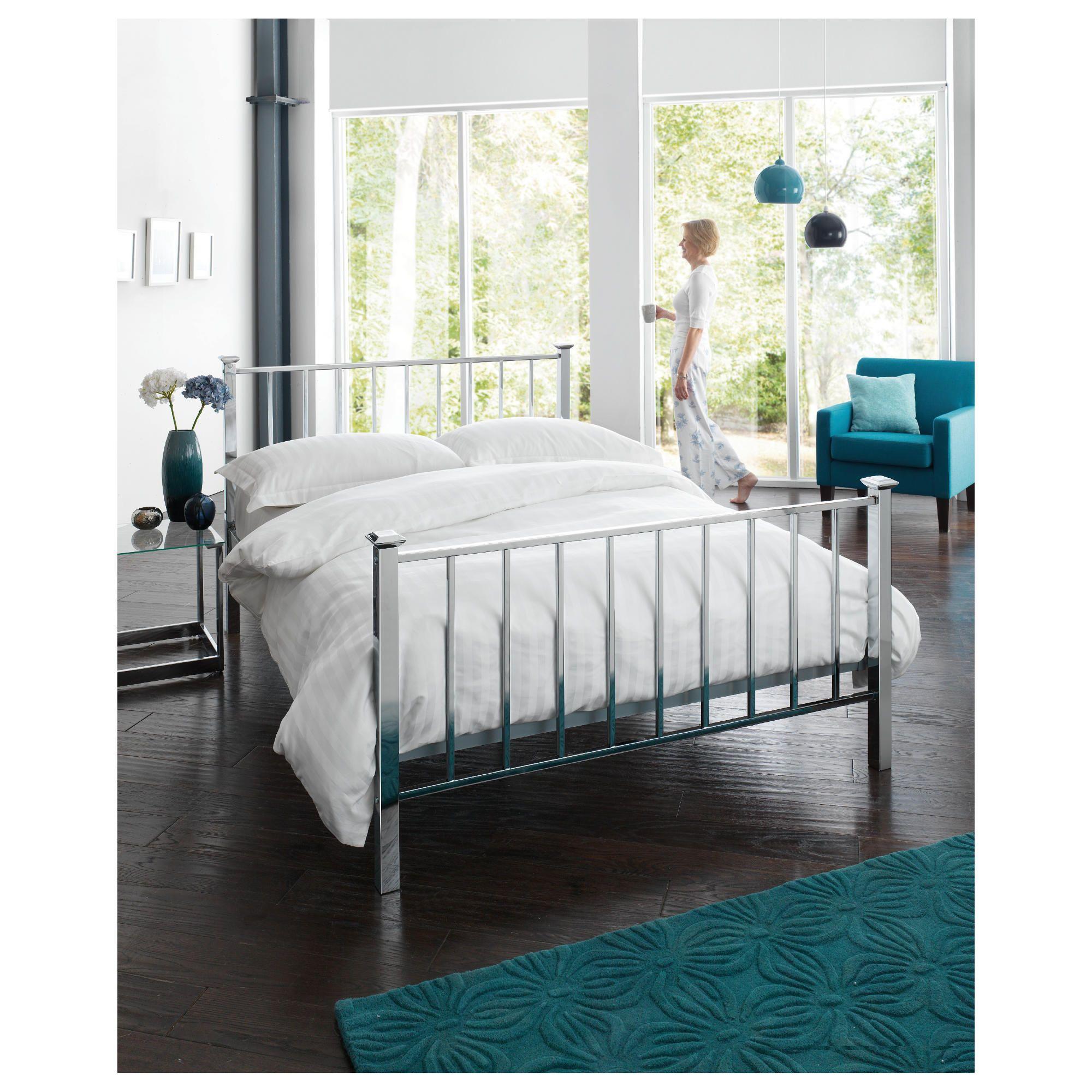 Monaco Double Bed Frame, Chrome at Tesco Direct