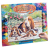 KSG Crafts Senior Painting By Numbers Bassett Hounds